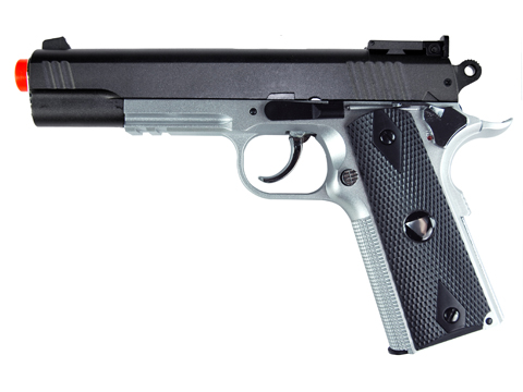 TSD Sports M1911-Tac Spring Power Airsoft Pistol (2-Tone w/ Black Grips)