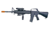 Well M16A3 Style Airsoft Rifle w/ Laser & Light