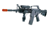 Well M16A4 Style Airsoft Rifle w/ Laser, Light and Adj. Gunstock